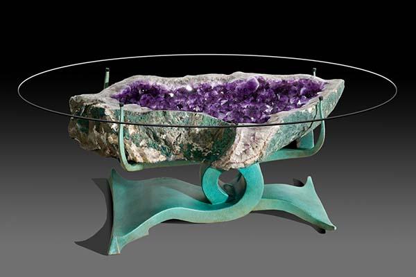 Fantastic Custom Geode Tables Home Interior And Landscaping Ferensignezvosmurscom